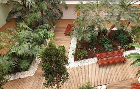 Jardim Interior ASFE Saúde