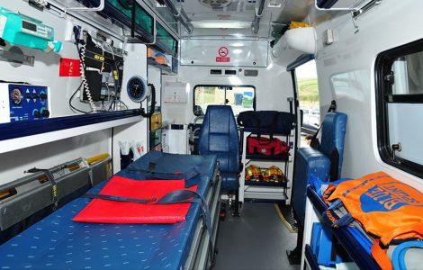 Interior de ambulâncias ASFE Saúde